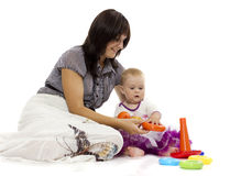 Entertainment with the child Stock Images