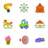 Entertainment for children icons set. Cartoon illustration of 9 entertainment for children vector icons for web Royalty Free Stock Photography