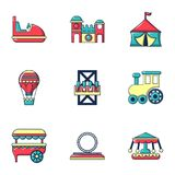 Entertainment for children icons set, flat style. Entertainment for children icons set. Flat set of 9 entertainment for children vector icons for web isolated on vector illustration