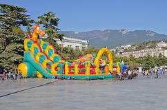 Entertainment for children on the waterfront in Yalta Stock Photo