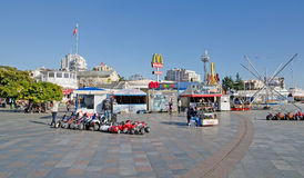 Entertainment for children on the waterfront in Yalta Stock Image