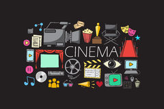 Entertainment and Cinema concept Royalty Free Stock Images