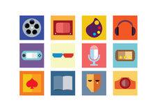 Entertainment Color Flat Icons Royalty Free Stock Image