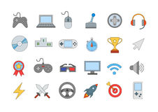 Entertainment colorful icons set Stock Images