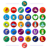 Entertainment, commerce, music and other web icon in flat style., restaurant, plumbing, vegetables, icons in set. Entertainment, commerce, music and other  icon Stock Photos