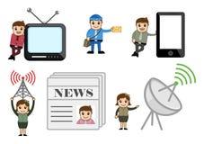 Entertainment and Communication Concepts Cartoon Vectors Stock Photo