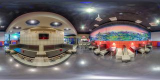 Entertainment complex in Sochi. Spherical Panorama Royalty Free Stock Photography
