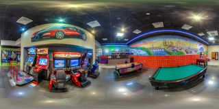 Entertainment complex in Sochi. Spherical Panorama Stock Image