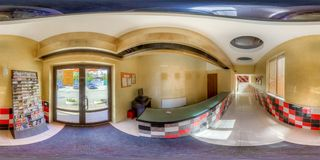 Entertainment complex in Sochi. Spherical Panorama Stock Images