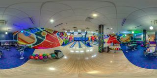 Entertainment complex in Sochi. Spherical Panorama Stock Photos