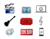 Entertainment concept icon set illustration Royalty Free Stock Images