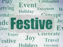 Entertainment, concept: Festive on Digital Data Paper background Royalty Free Stock Photography