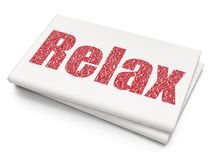 Entertainment, concept: Relax on Blank Newspaper background. Entertainment, concept: Pixelated red text Relax on Blank Newspaper background, 3D rendering Stock Photos