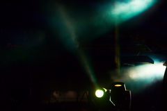 Entertainment concert lighting on stage. Stock Photo