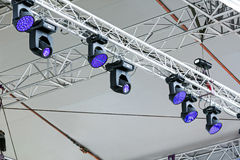 Entertainment concert lighting on stage Royalty Free Stock Photos