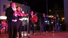 Entertainment in Downtown Merida stock video footage