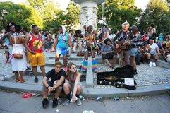 Entertainment at Dupont Circle Royalty Free Stock Images