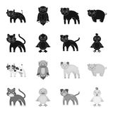 Entertainment, farm, pets and other web icon in black,monochrome style. Eggs, toy, recreation icons in set collection. vector illustration