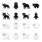 Entertainment, farm, pets and other web icon in black,outline style. Eggs, toy, recreation icons in set collection. royalty free illustration