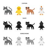 Entertainment, farm, pets and other web icon in cartoon,black,monochrome style. Eggs, toy, recreation icons in set. Entertainment, farm, pets and other icon in stock illustration