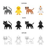 Entertainment, farm, pets and other web icon in cartoon,black,outline style. Eggs, toy, recreation icons in set vector illustration