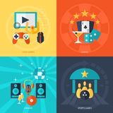 Entertainment Flat Icons Set Royalty Free Stock Image