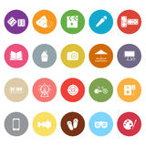 Entertainment flat icons on white background Royalty Free Stock Photography