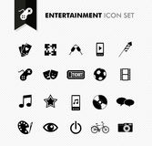 Entertainment fresh icon set. Modern entertainment leisure and fun icon set. Vector file in layers for easy editing Royalty Free Stock Photos