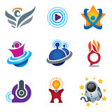 Entertainment and fun symbol of exploring happiness study logo for creative and relax people Stock Photography