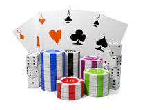 Entertainment gambling Royalty Free Stock Photos