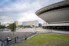 Entertainment hall called Spodek in city center of Katowice, Pol Stock Image