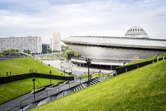 Entertainment hall called Spodek in city center of Katowice, Pol Stock Images