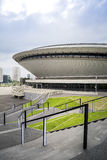Entertainment hall called Spodek in city center of Katowice, Pol Royalty Free Stock Images