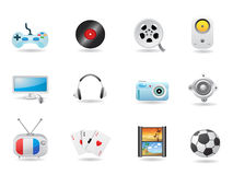 Entertainment Icon Set Royalty Free Stock Images