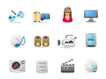 Entertainment icon set Stock Photo