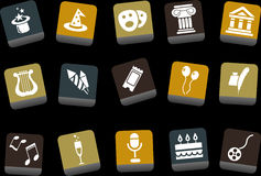 Entertainment Icon Set Royalty Free Stock Image