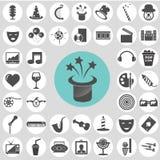 Entertainment icon set. Stock Image