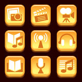Entertainment icons Stock Images