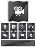 Entertainment Icons Stock Photography