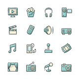 Entertainment Icons Royalty Free Stock Photos