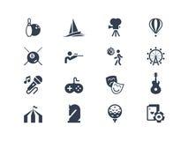 Entertainment icons. Lyra series Stock Photography