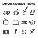 Entertainment icons Royalty Free Stock Photo