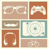 Entertainment icons Royalty Free Stock Image