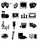 Entertainment Icons Set royalty free stock photo
