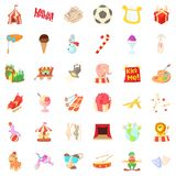 Entertainment icons set, cartoon style. Entertainment icons set. Cartoon style of 36 entertainment vector icons for web isolated on white background Royalty Free Stock Image