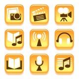 Entertainment icons Royalty Free Stock Photos