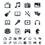Entertainment icons Royalty Free Stock Photo