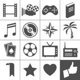 Entertainment icons. Simplus series. Entertainment icon set. Simplus series. Each icon is a single object (compound path Stock Images