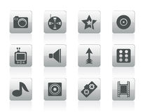 Entertainment Icons Royalty Free Stock Photography