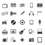 Entertainment icons on white background Royalty Free Stock Images
